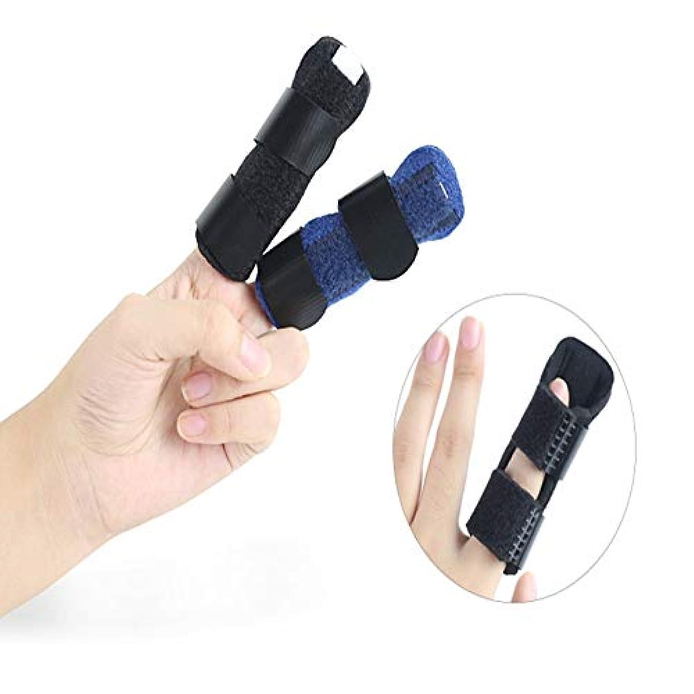 額不当不適切な湾曲した、調節可能なベルクロを矯正するためにスプリント、リバーシブル親指スタビライザー、サポートブレースを指 (Color : ブラック)