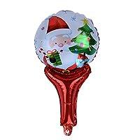Demiawaking クリスマス風船 アルミ箔 光沢 繰り返し使える 可愛いサンタクロース クリスマス・結婚式・パーティー装飾