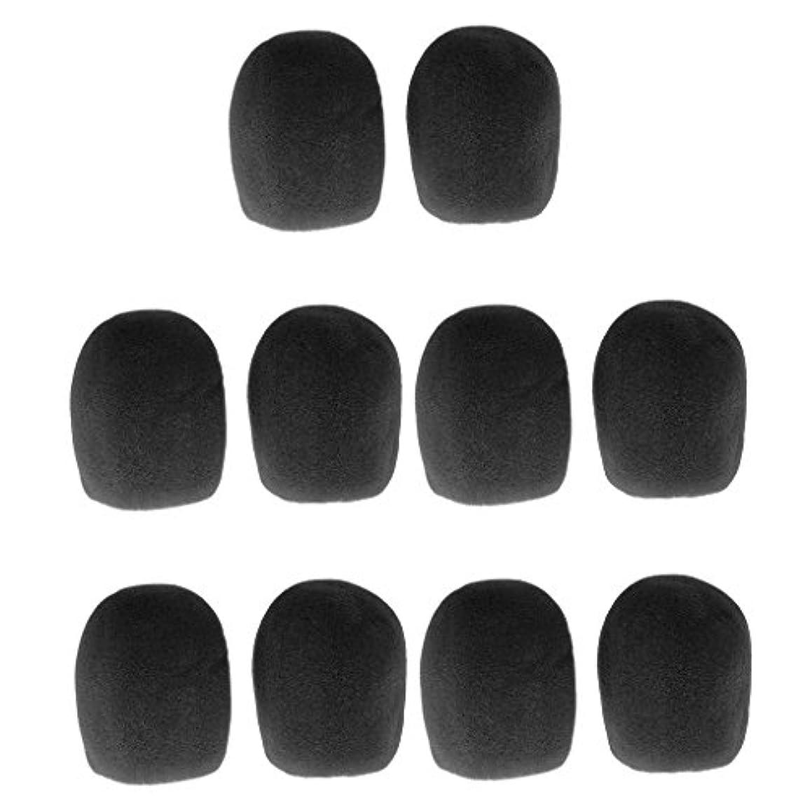 半島用語集エレメンタルgazechimp マイク風防 ウインドスクリーン 通気性 マイクパーツ 全5色 - 黒