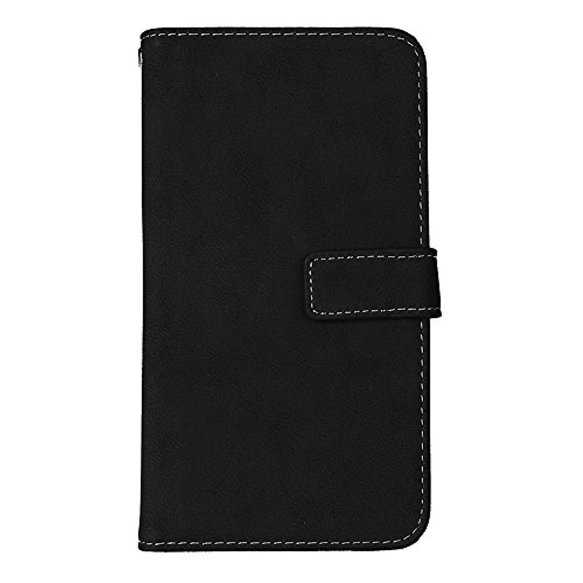 本土に類似性Galaxy J7 2016 高品質 マグネット ケース, CUNUS 携帯電話 ケース 軽量 柔軟 高品質 耐摩擦 カード収納 カバー Samsung Galaxy J7 2016 用, ブラック