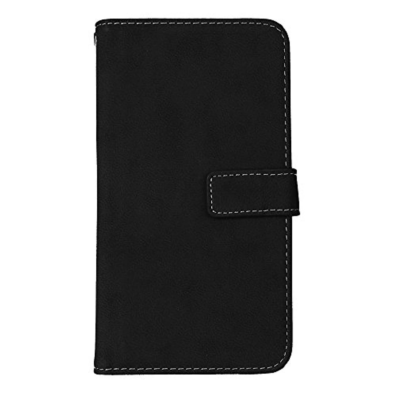 シーケンスウルル変更Galaxy J7 2016 高品質 マグネット ケース, CUNUS 携帯電話 ケース 軽量 柔軟 高品質 耐摩擦 カード収納 カバー Samsung Galaxy J7 2016 用, ブラック