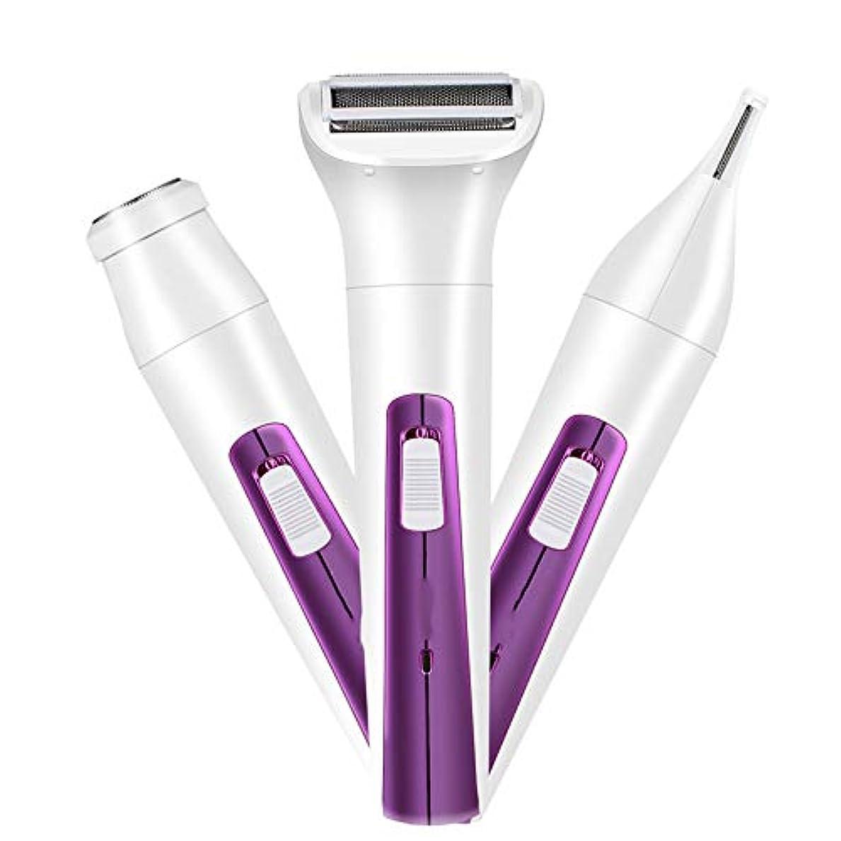 音節交じる繰り返しポータブル脱毛器は、体の顔の脇の下とビキニラインの女性のための長い髪の成長痛みのない完璧な脱毛装置を減らします,紫色