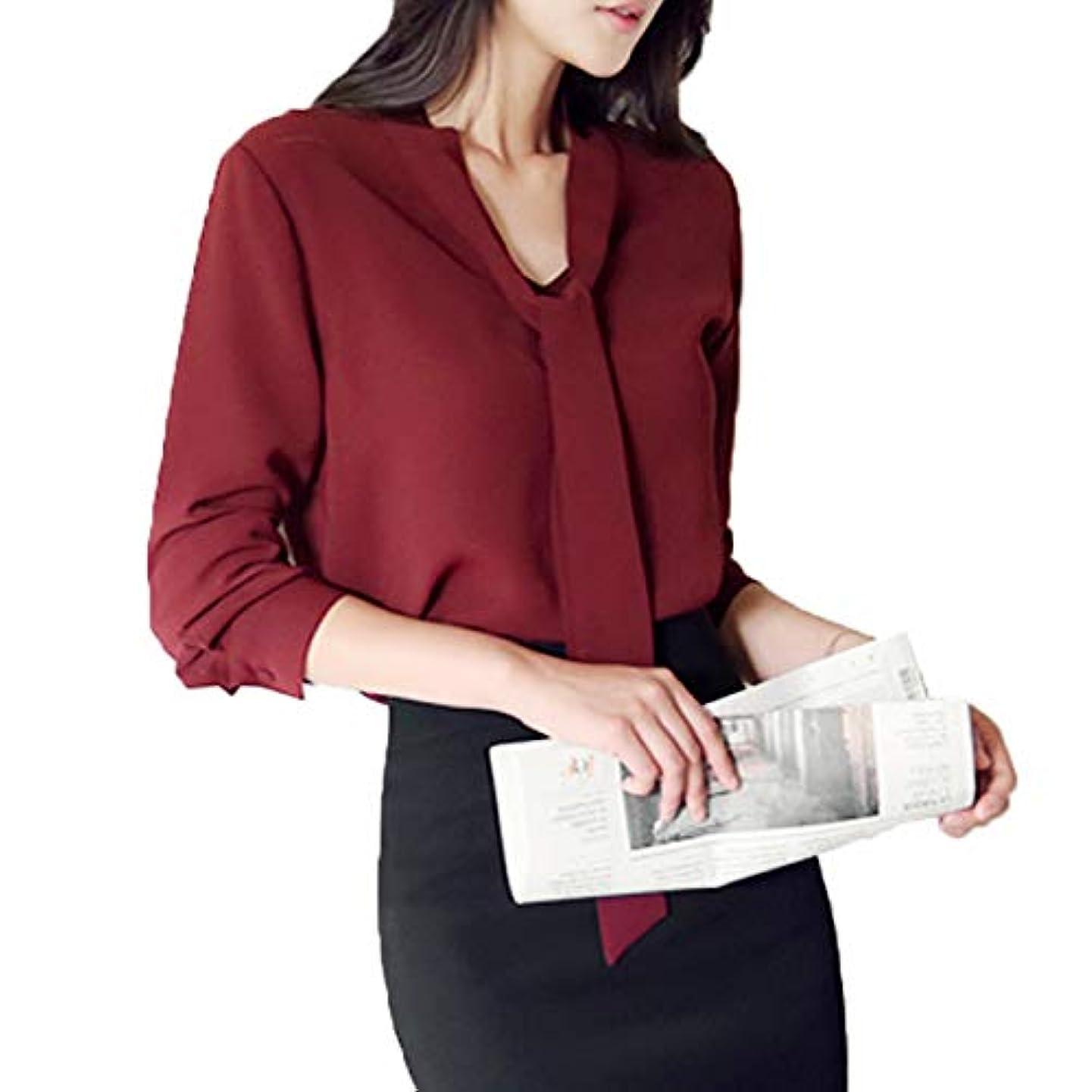 ライトニングひねりファッション[ココチエ] ブラウス シャツ ボウタイ レディース おしゃれ とろみ 長袖 ビジネス