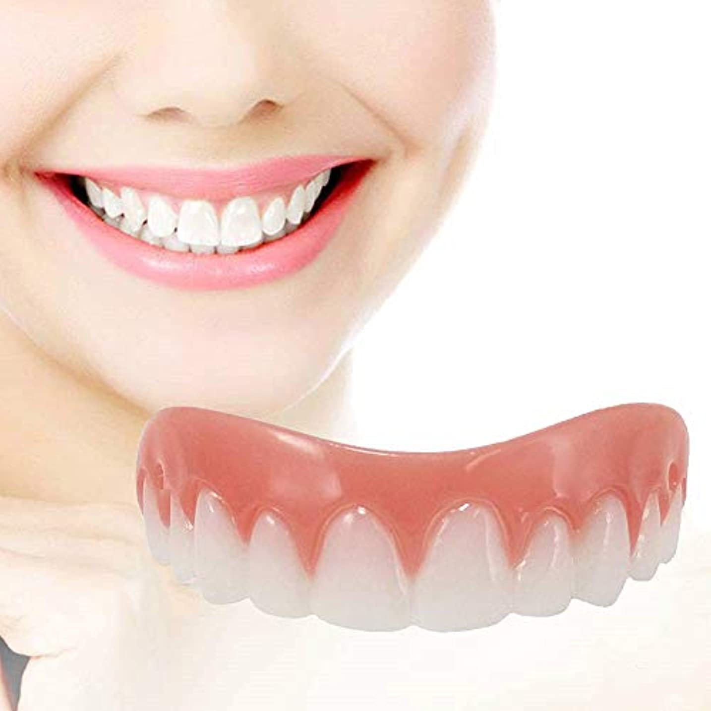 シアー言う悲劇的な女性、人のために白くなる即刻のベニヤの義歯の微笑の慰めの適合の屈曲の化粧品の偽歯