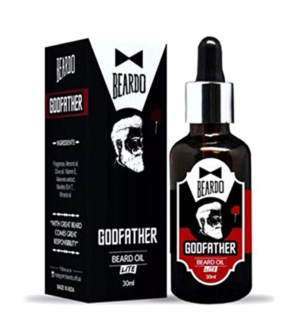 バッチスマイルビールBeardo Godfather Lite Beard And Moustache Oil - 30 ml With Natural Ingredients - Almond Oil, Aloe Vera Extract...