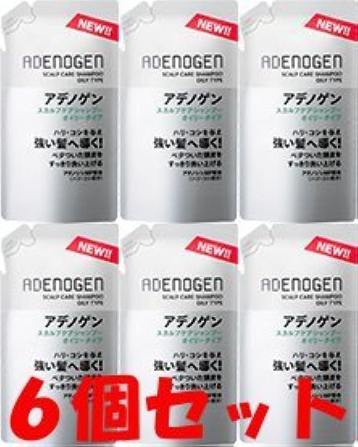 ロッカー強大なシャンパン【つめ替6個】薬用アデノゲン スカルプケア シャンプー(オイリータイプ)310ml
