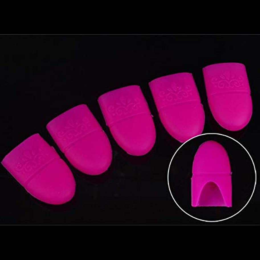 AAcreatspace UVジェルソークオフポリッシュリムーバーラバークリップキャップ再利用可能なネイルジェルリムーバーキーパーソーカーネイルアート復活ツール