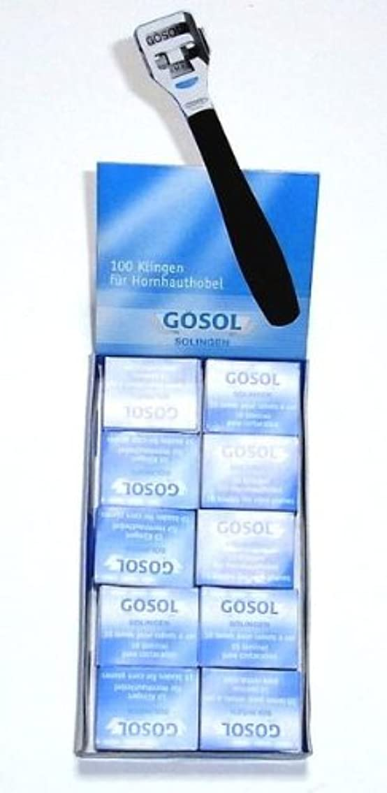 限られた歪める事実上ゲーゾル(独)GOSOL コーンカッター 魚の目切替刃10枚入りx10個