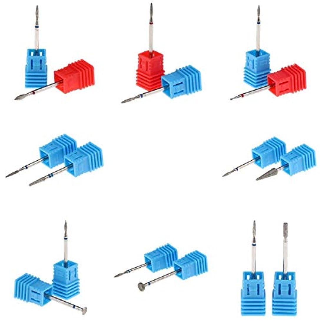 横オピエートぬれたT TOOYFUL 電気ネイルドリルビット ネイルバレルヘッド 耐熱性 耐酸性 16個