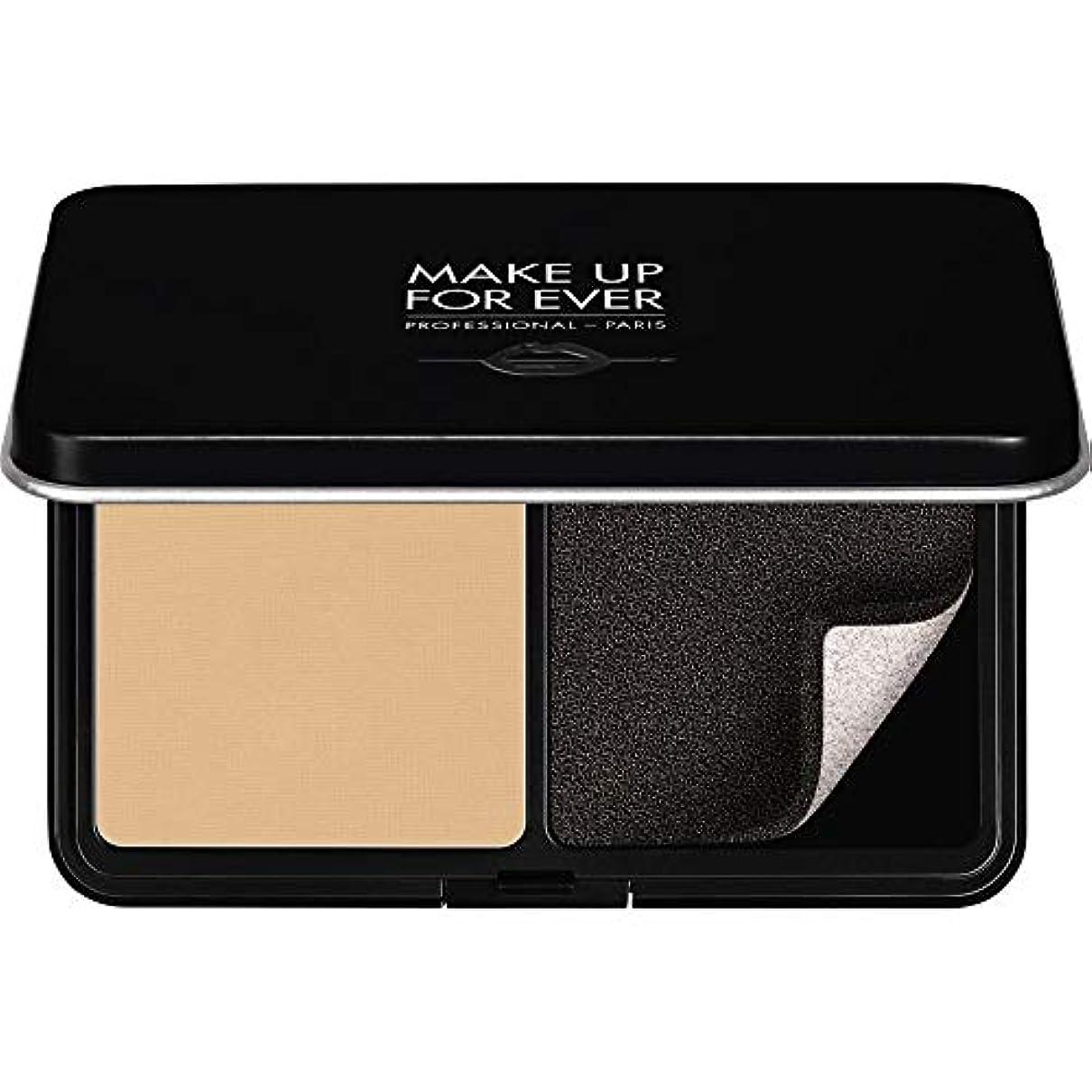 対応スポンジ誰の[MAKE UP FOR EVER ] パウダーファンデーション11GののY225をぼかし、これまでマットベルベットの肌を補う - 大理石 - MAKE UP FOR EVER Matte Velvet Skin Blurring Powder Foundation 11g Y225 - Marble [並行輸入品]