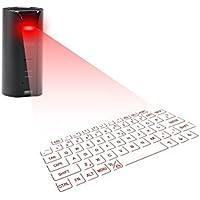 【PCATEC】Bluetooth キーボード (内蔵スピーカー) 投映型 無線 プロジェクションキーボード タブレット スマートフォン PCなど (ブラック)