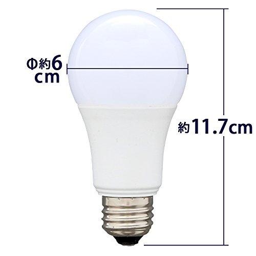 アイリスオーヤマ LED電球 口金直径26mm 60W形相当 電球色 広配光タイプ 2個セット 密閉器具対応 LDA8L-G-6T42P画像8