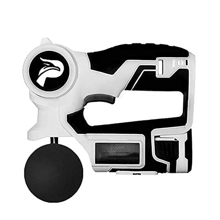 調和起きている紛争マッサージガン、パーソナルパーカッション手持ち型マッスルマッサージャー - ディープティシューマッサージャー2700回/分6スピード設定 - 4マッサージヘッド
