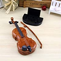 HXSD 手描きのバイオリンオルゴールオルゴールの かわいいミニギフト ホームデコレーション、デコレーション (Style : Violin)
