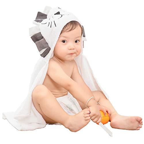 f54fb4b59e316 (Yesongan)バスタオル ベビー バスローブ 赤ちゃん ポンチョ マント 子供 フード付き お風呂 可愛い 動物柄 吸水速乾 出産祝い  プレゼント ホワイト 綿100% ブラ.