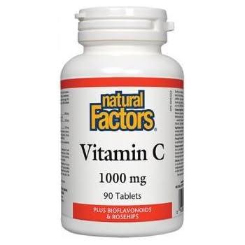 海外直送品Vitamin C, 1000 mg, Non Time Release 90 Tabs by Natural Factors