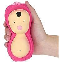 moonker Squishiesおもちゃ、かわいいSqueezeピーナッツDollsクリームパン香りつきSlow Risingおもちゃ電話チャームギフトforキッドと大人用 over 6 year old マルチカラー Moonker-MN-1136