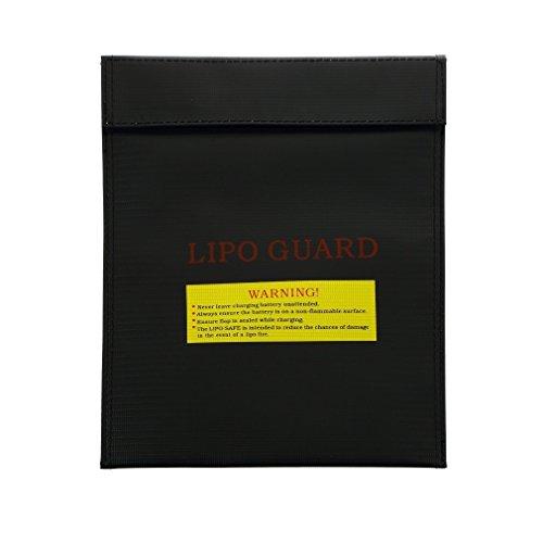 AnbeeR LiPo Guardリポバッテリー セーフティーバッグ 保護バッグ ストレージ バッグ 耐火 (DJI Phantom 3/Inspire 1等対応) ブラック [並行輸入品]