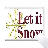 イエロー・スノーフレークとピンクの雪にしましょう PC Mouse Pad パソコン マウスパッド