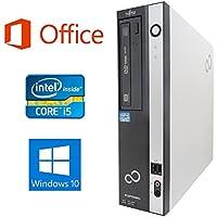 【Microsoft Office 2016搭載】【Win 10搭載】富士通D582/第三世代Core i5-3470 3.2GHz/超大容量メモリー8GB/HDD:新品1TB/HDMI/DVDスーパーマルチ/無線LAN搭載/無線キーボードとマウス/省スペース中古デスクトップパソコン/ (HDD:新品1TB)
