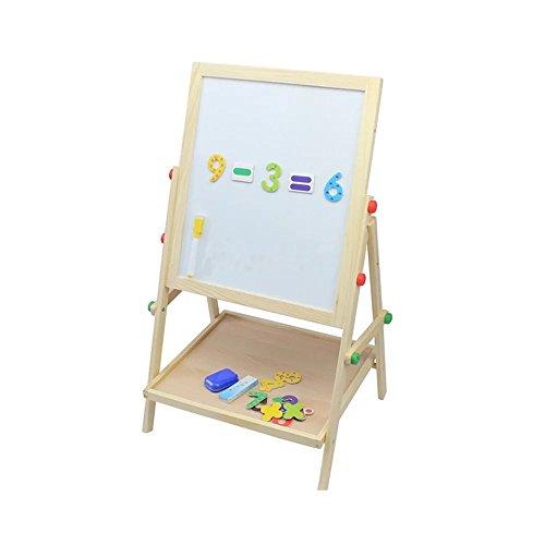 Kayiyasu【カイヤス】キッズ ホワイトボード 黒板 磁気 両面 組立式 教育 子供 木製 021-lzgy-052(H68.5*L37.5*W35cm 画像より )