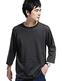[ナノユニバース] セーター 《WEB限定》7COLORS ミックスニット 7分袖 メンズ