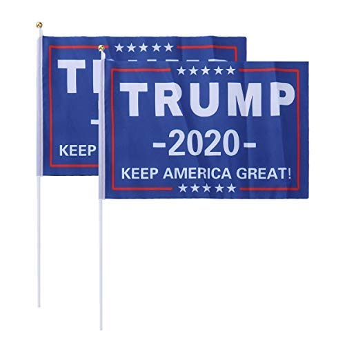 Amosfun 5pcs American Keep America Great Trump 2020 Hand Held Flags [並行輸入品]