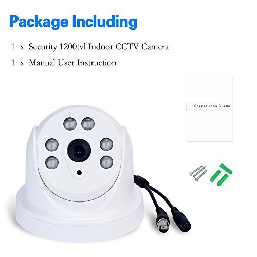 ARsecut Indoor Day Night Security Surveillance Camera 1200TVL with IR-Cut Filter CCTV Dome Camera With 49ft IR Range Night Vision [並行輸入品]