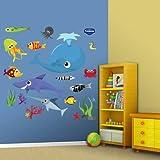 おもちゃ Fathead Sea Creatures Group Two Wall Graphic [並行輸入品]