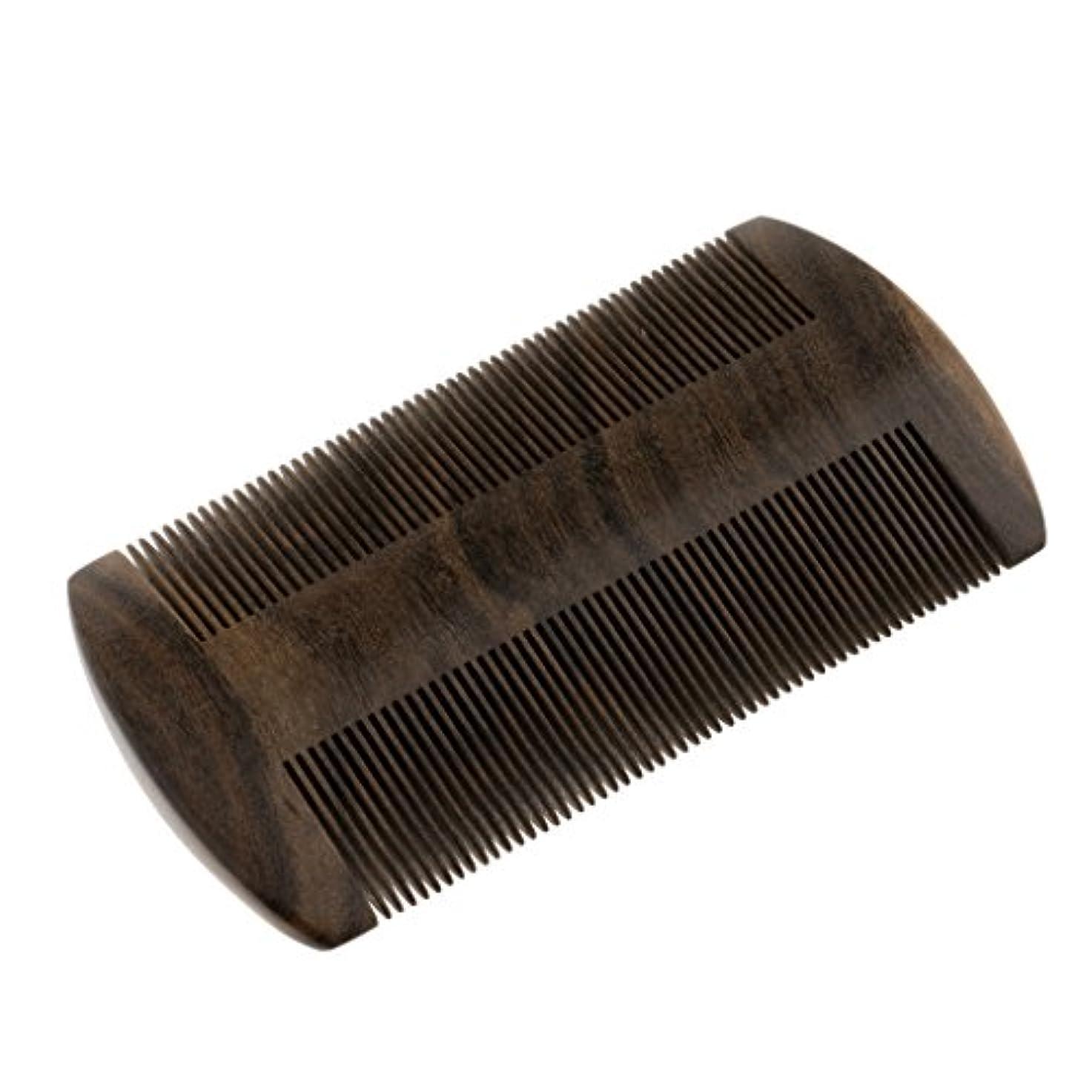 ボタン食物脈拍ヘアブラシ 静電気防止髭剃り櫛 ウッドコーム ミシュコーム 静電気防止