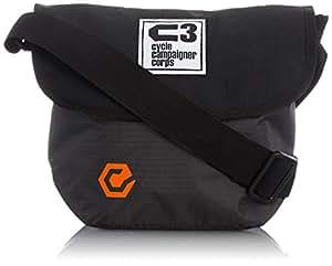 C3(サイクルキャンペイナーコープス) 自転車用フロントバッグ シースリーショルダーS (ブラック/グレーミックス)