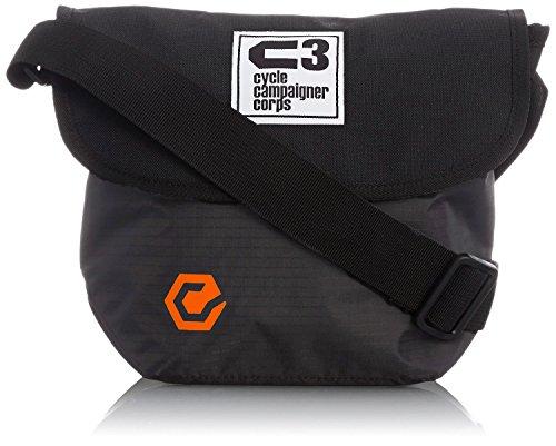 C3(サイクルキャンペイナーコープス) 自転車用フロントバッグ シースリーショルダーS (ブラック/グレーミッ...
