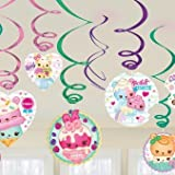 Amscan Num Noms Party Hanging Swirl Decorations x 12 [並行輸入品]