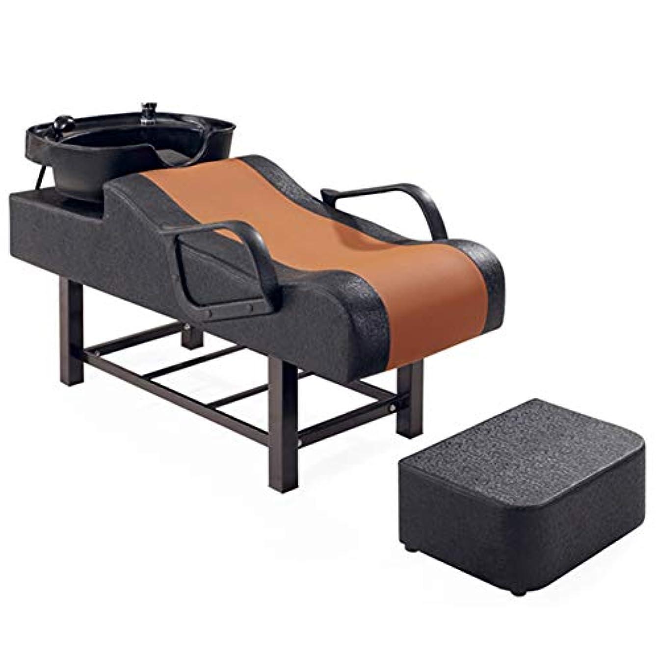 第彫刻家正しいシャンプーの理髪師の逆洗の椅子、鉱泉の美容院の穿孔器のベッドのためのシャンプーボールの流しの椅子