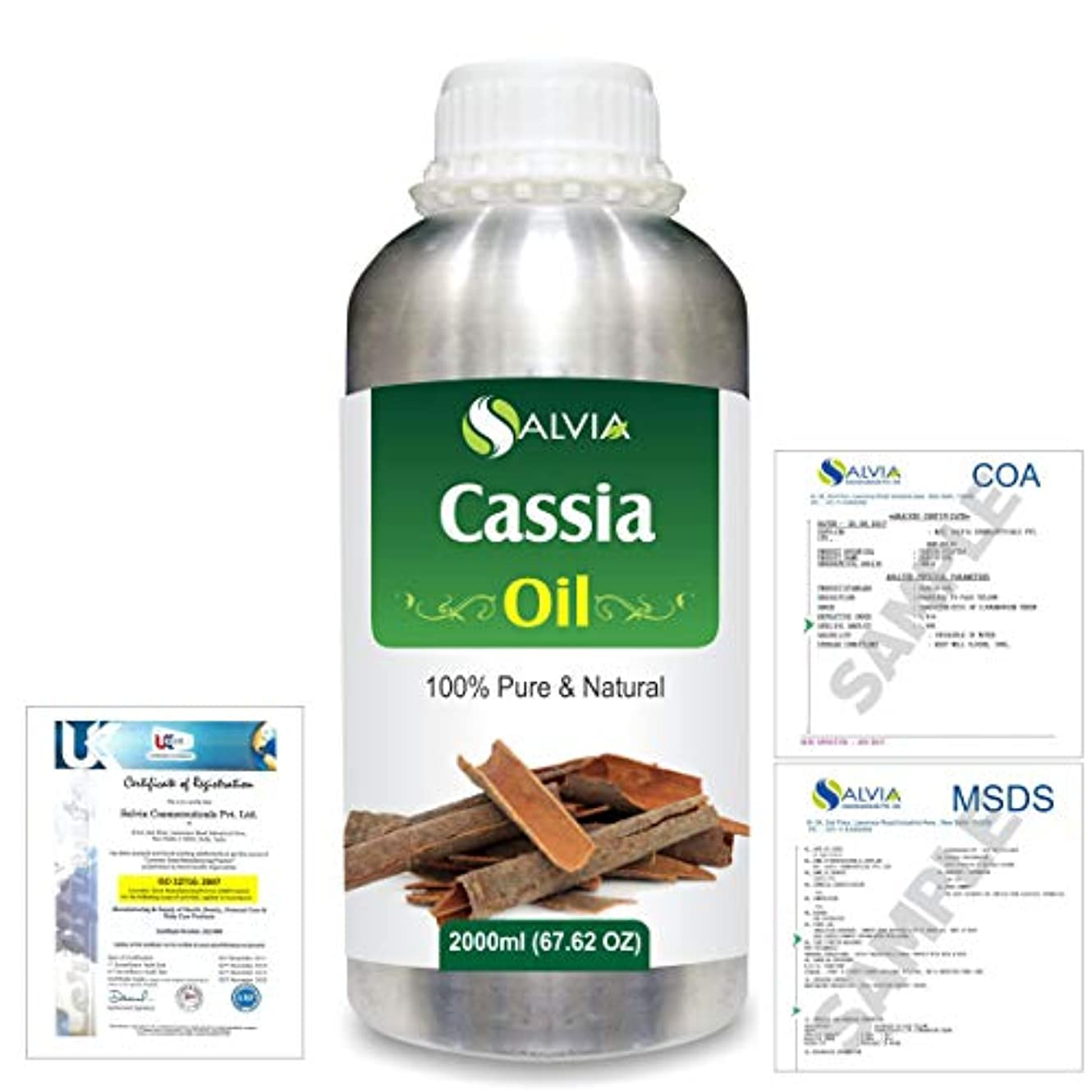 Cassia (Cassia fistula) 100% Natural Pure Essential Oil 2000ml/67 fl.oz.