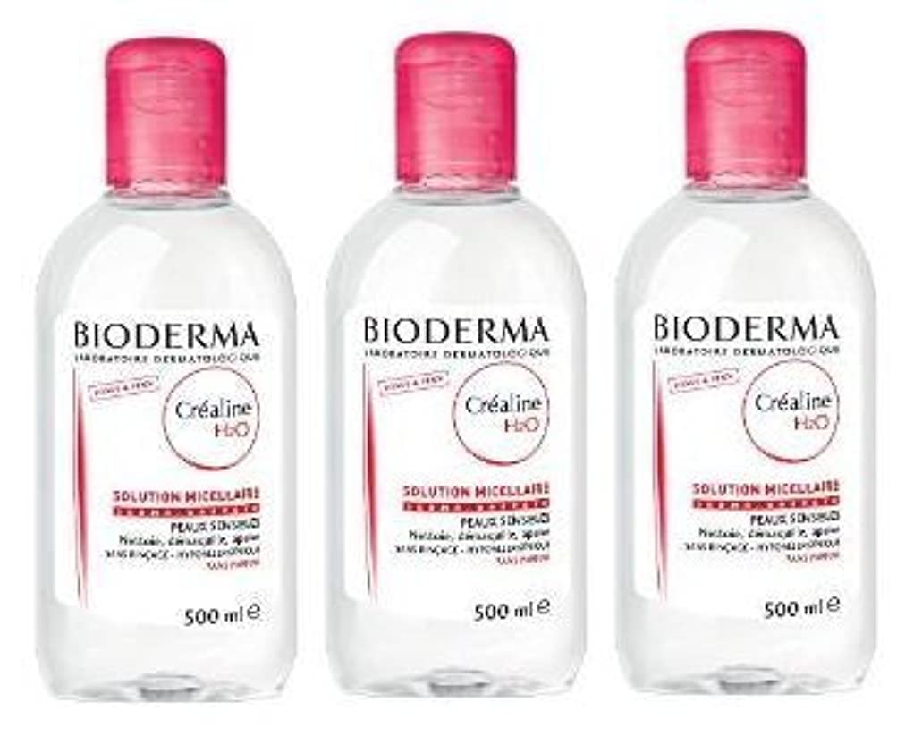 雇用挨拶魅力的ビオデルマ(BIODERMA) サンシビオ H2O D(Crealine H2O)500ml 3本セット[並行輸入品]