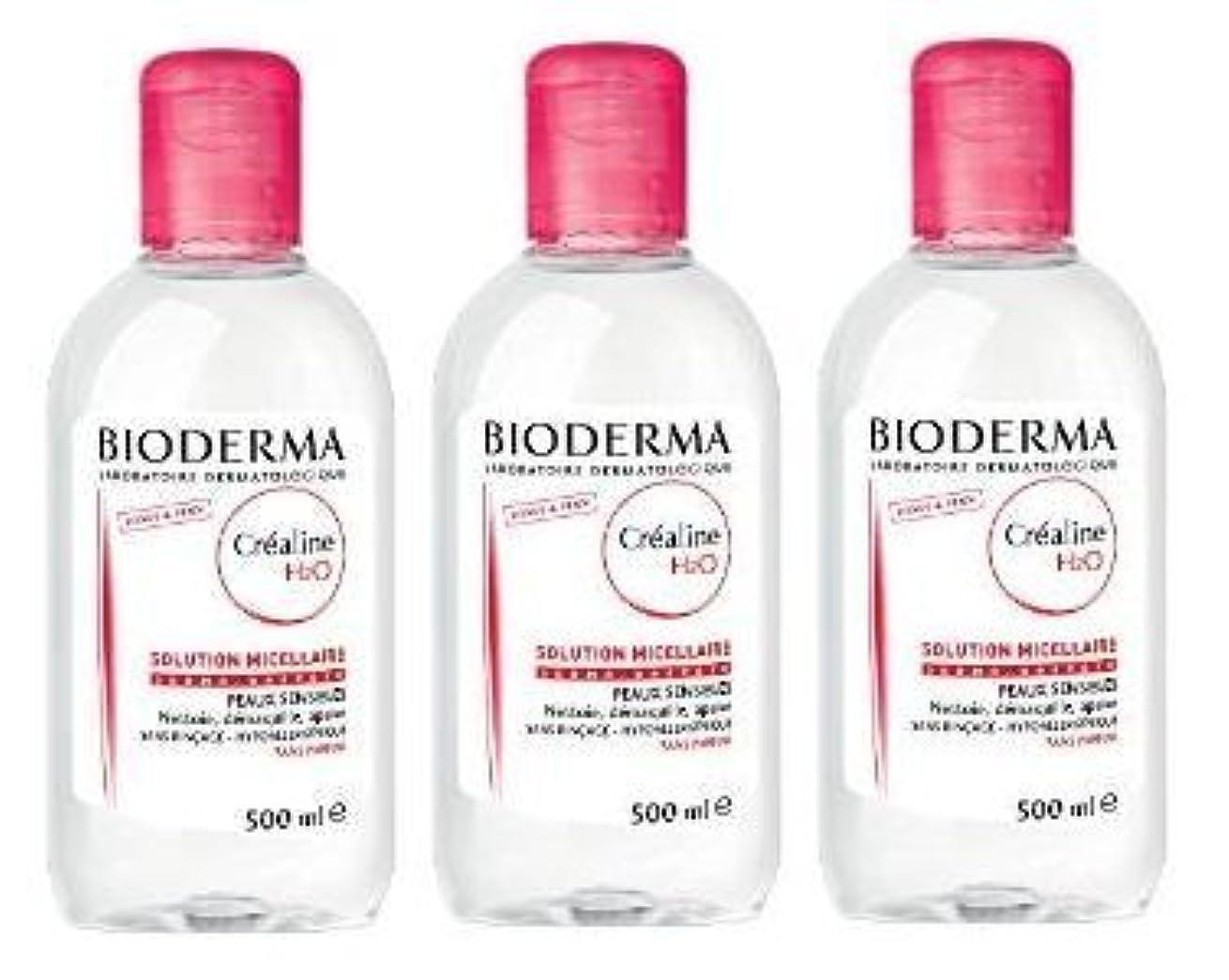 蒸発ぼんやりした制約ビオデルマ(BIODERMA) サンシビオ H2O D(Crealine H2O)500ml 3本セット[並行輸入品]