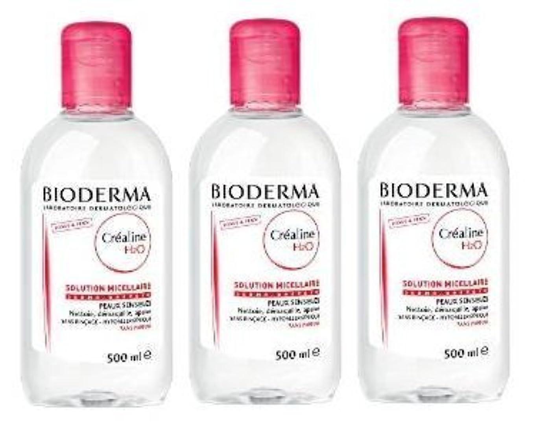 わずらわしいフォアタイプボトルネックビオデルマ(BIODERMA) サンシビオ H2O D(Crealine H2O)500ml 3本セット [並行輸入品]