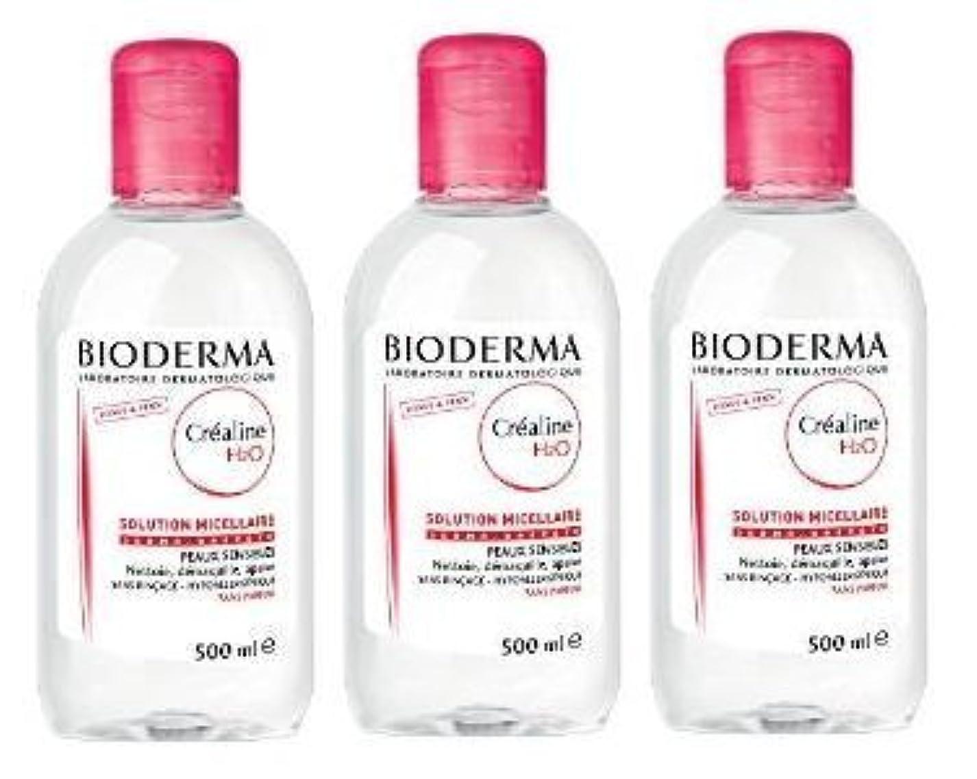 ビオデルマ(BIODERMA) サンシビオ H2O D(Crealine H2O)500ml 3本セット[並行輸入品]