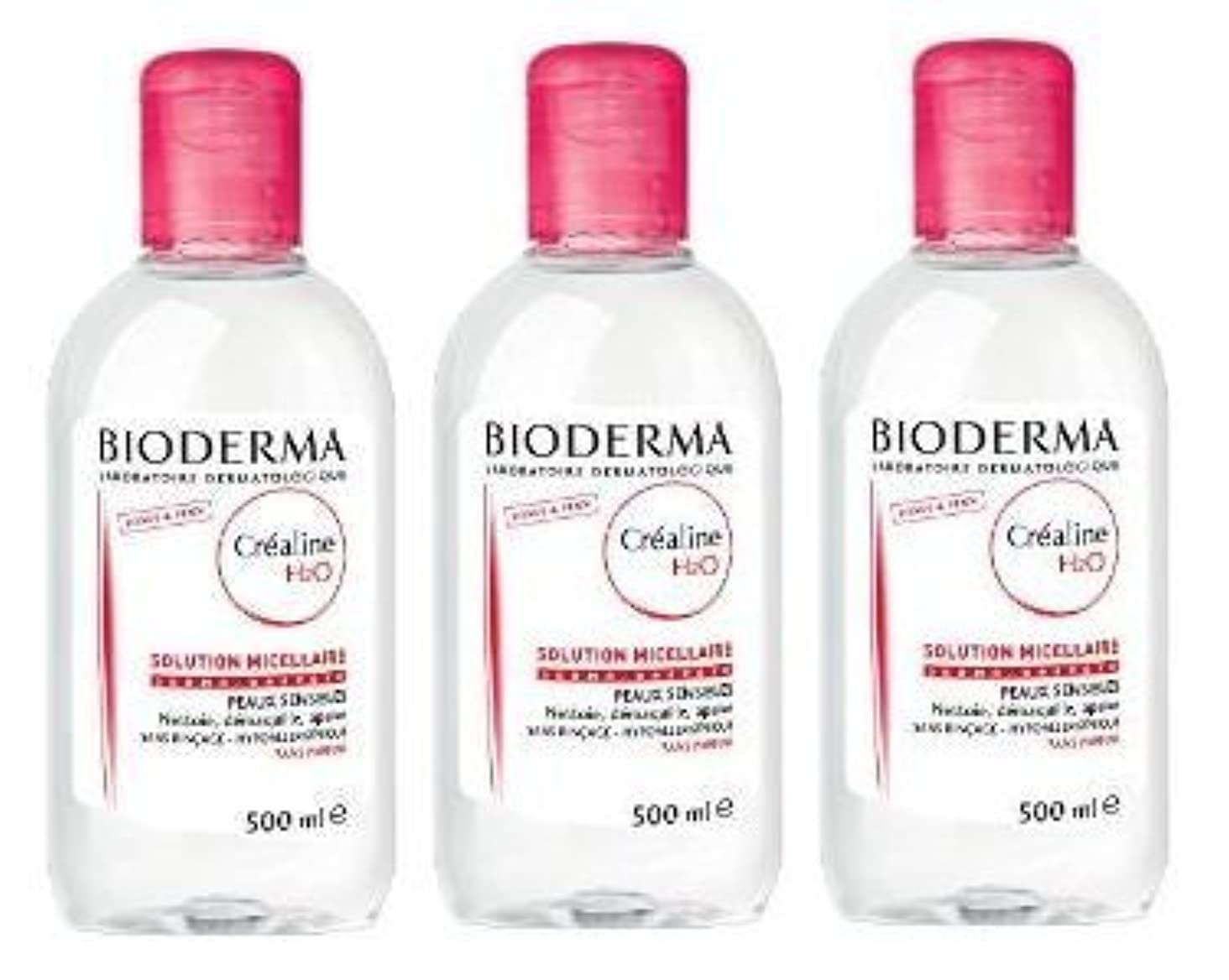 侵略期間植生ビオデルマ(BIODERMA) サンシビオ H2O D(Crealine H2O)500ml 3本セット [並行輸入品]