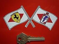 Pininfarina & Ferrari Crossed Flag Sticker フェラーリ ステッカー シール デカール 700mm × 110mm 2枚セット [並行輸入品]