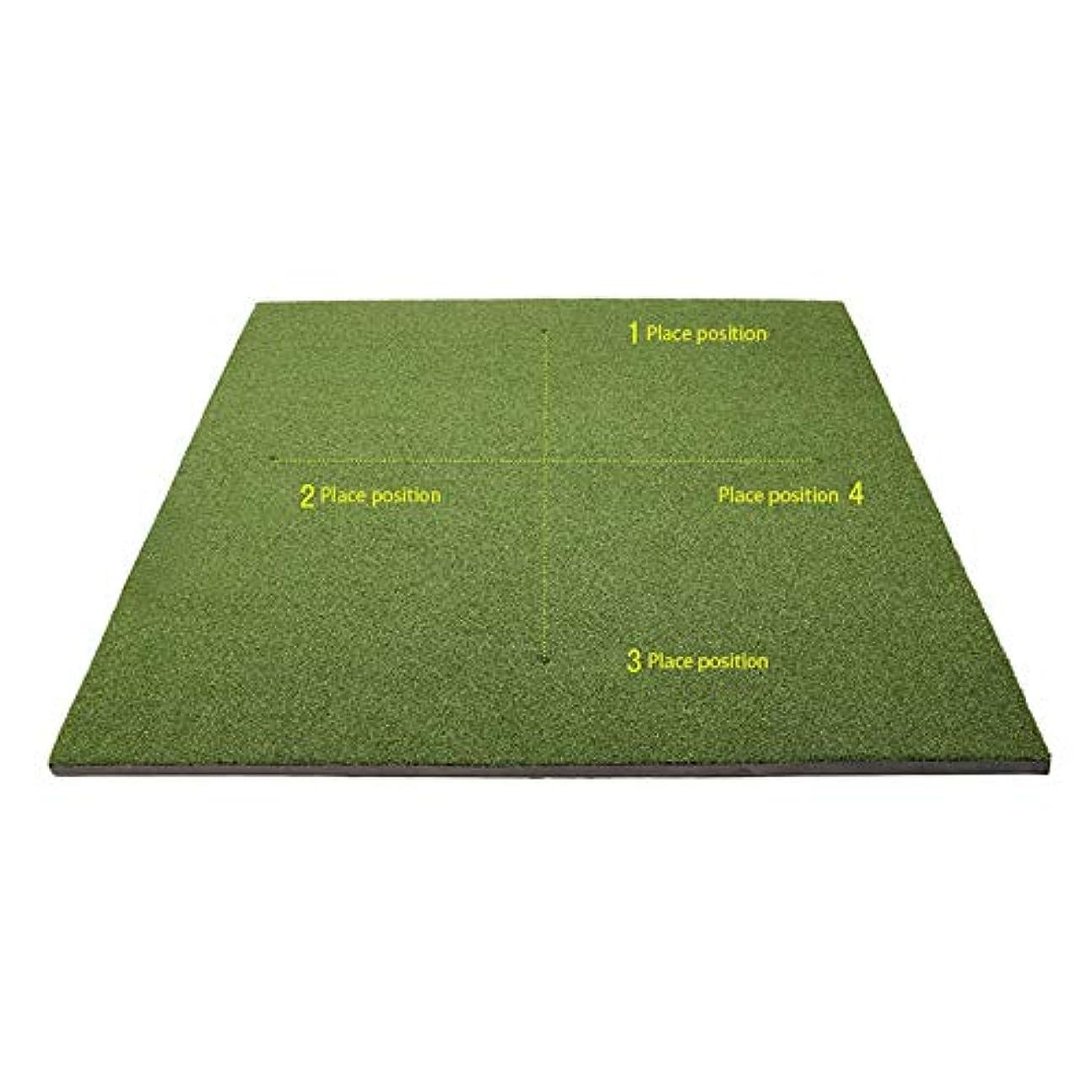 会議四半期ピニオン屋内グリーンシステムプロフェッショナルゴルフグリーンパッティングエクササイザーミニフェアウェイトレーニングマット用リビングルーム、バルコニー、オフィス、庭 (色 : 緑, サイズ : 1.5*1.5m)