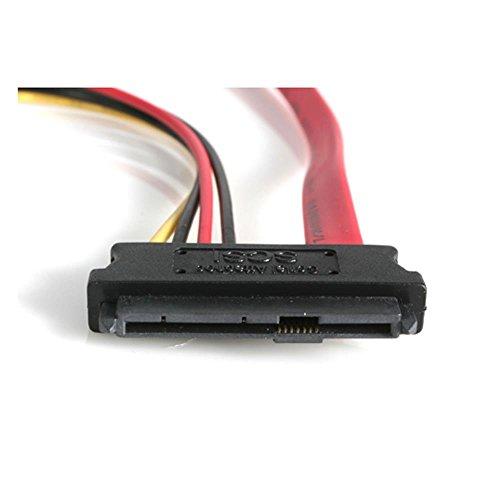 StarTech 46cm SAS 29ピン -SATA変換ケーブル ペリフェラル電源付き SATA(7ピン・データ) オス - SFF- SAS729PW18