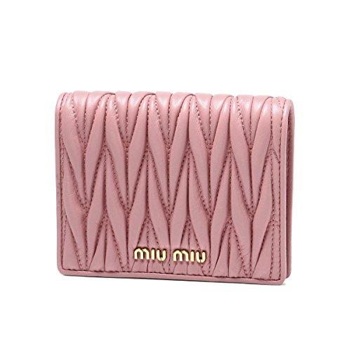 (ミュウミュウ) MIU MIU 二つ折り財布 MATELASSE ピンク 5MV204 N88 F0028 [並行輸入品]