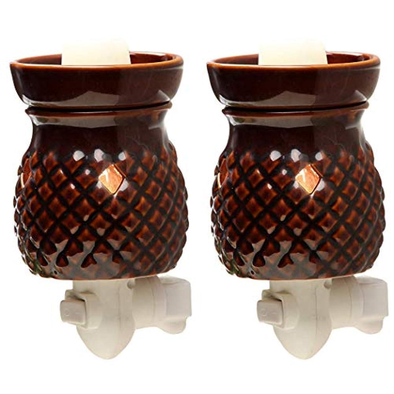 メーターポインタ国歌Hosley 2個セット 高さ5.3インチ レッド セラミック 電気ワックス ウォーマー 結婚式 スパ アロマテラピーに最適 ブランド ワックスメルトとキューブ エッセンシャルオイルとフレグランスオイル W1