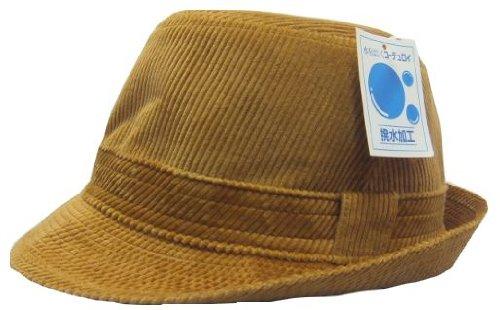 ②紳士コーデュロイ帽子、撥水加工済み (S)