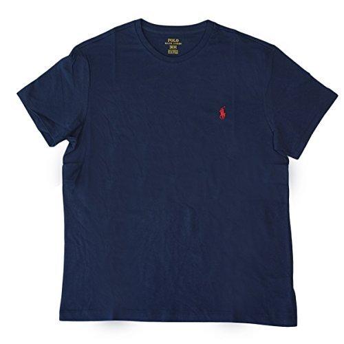 (ポロ ラルフローレン) POLO Ralph Lauren 半袖 Tシャツ ワンポイント メンズ クルーネック ネイビ...