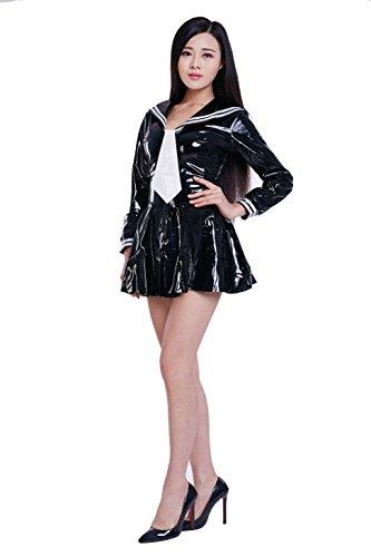 PVC clothing-Fuku (PVC43), Super extra large 100 kg size black