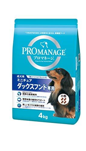 プロマネージ (PROMANAGE) 犬種別 成犬用 ミニチュアダックスフンド専用 4kg×3個(ケース販売) [ドッグフード]