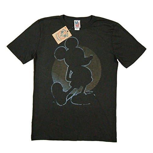 (ジャンクフード)JUNK FOOD 日本別注 USA産 ミッキーマウス 半袖 Tシャツ 色落ちブラック XL (US規格 L相当)